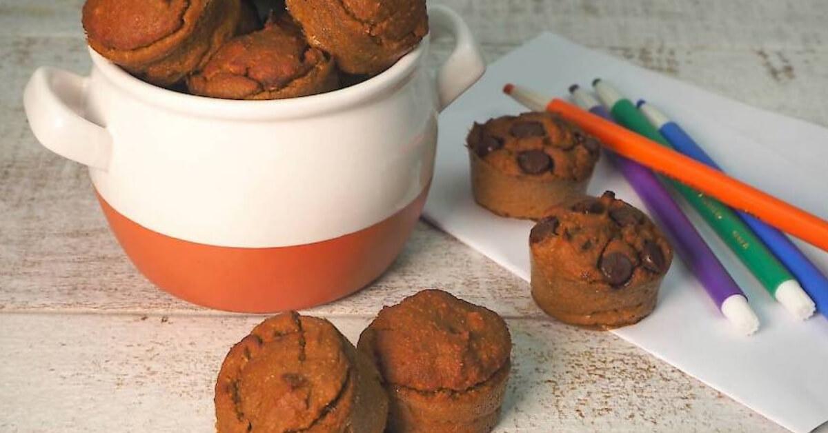 Sweet Potato & Banana Mini Muffins