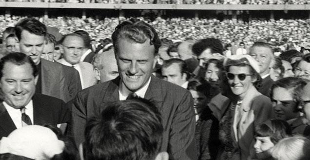 Billy Graham in Melbourne in 1959
