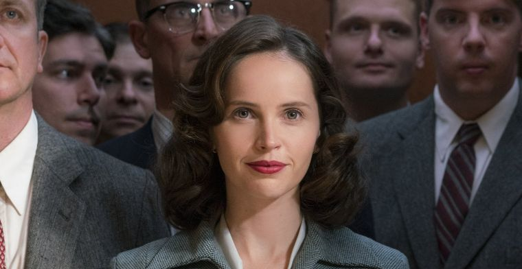 """Felicity Jones plays the inspiring lead character, Ruth Bader Ginsberg, in the film """"On the Basis of Sex"""""""