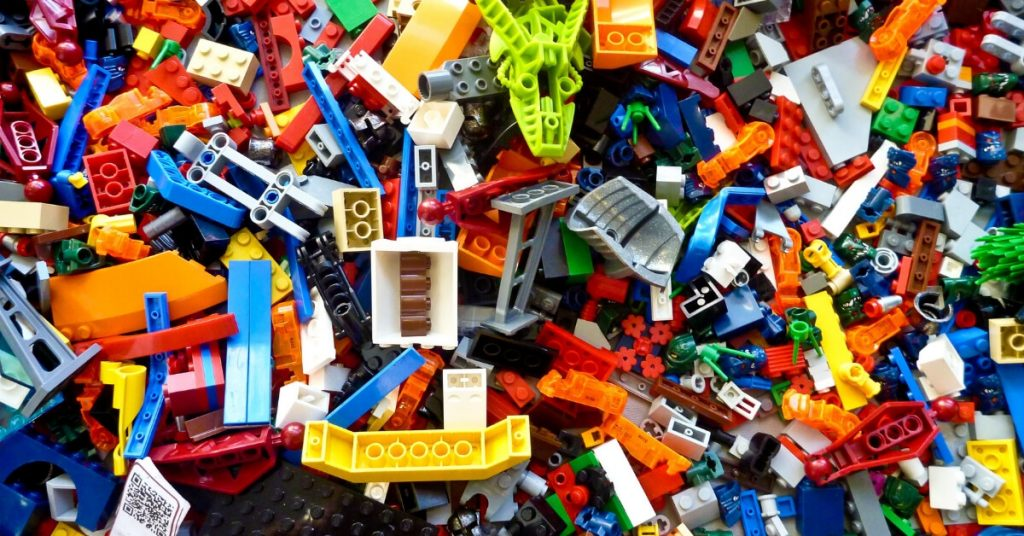 a pile of lego