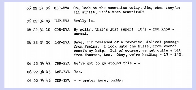 Apollo 15 transcript