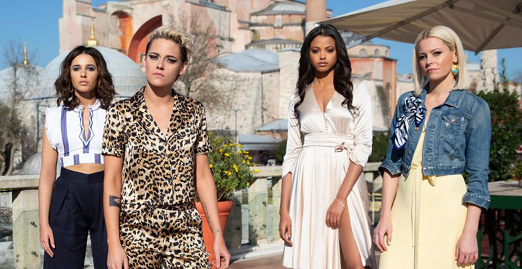 Charlie's Angels stars Kristen Stewart, Naomi Scott, Ella Balinska and Elizabeth Banks.