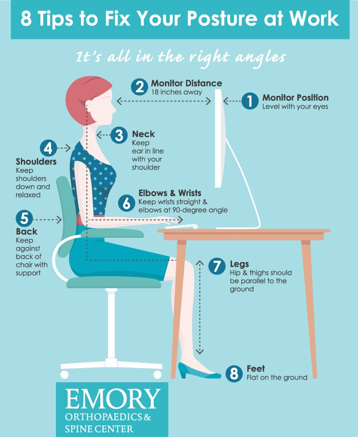 8 tips to fix your posture at work