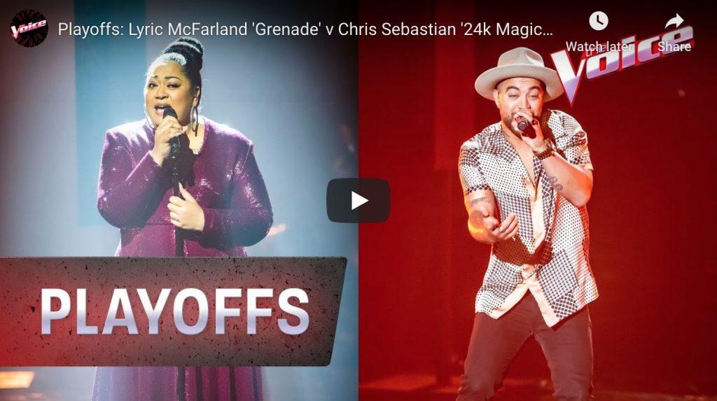 chris sebastian the voice playoffs video