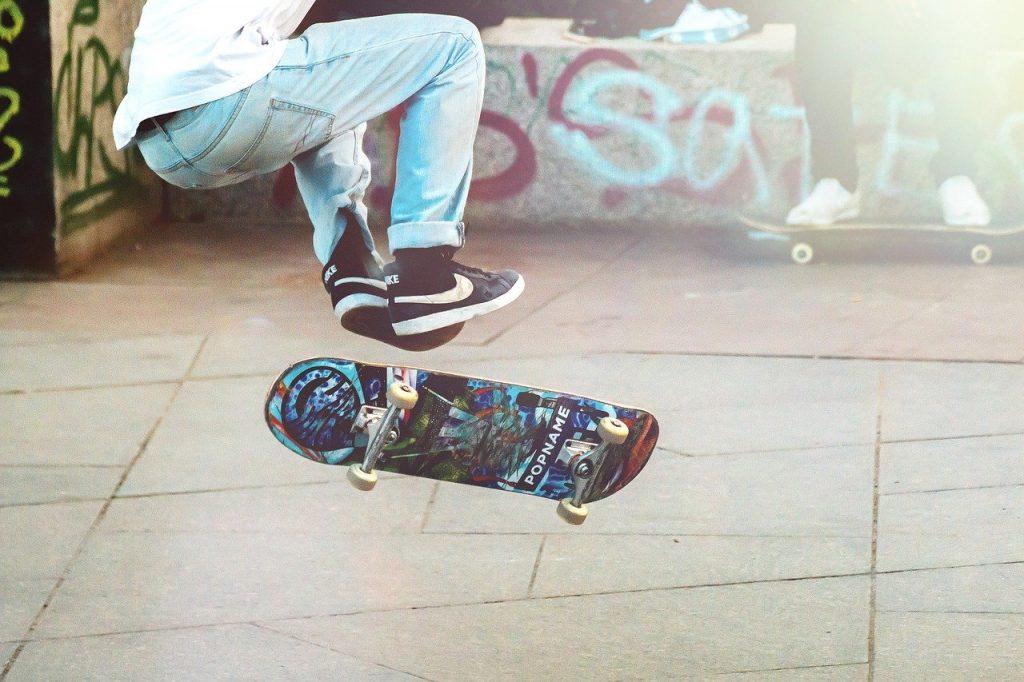 a male skateboarder