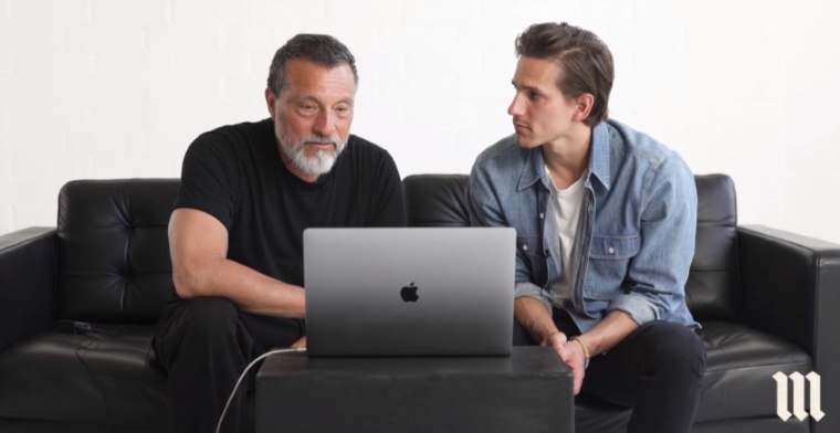 erwin mcmanus and aron mcmanus sitting on a couch talking