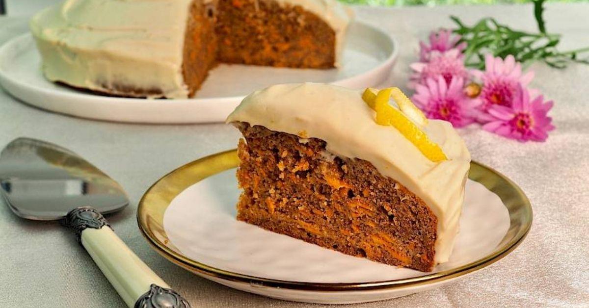 Carrot Cake with Lemon Cashew Cream