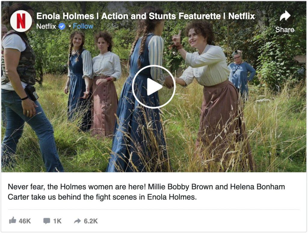 enola holmes action and stunts featurette
