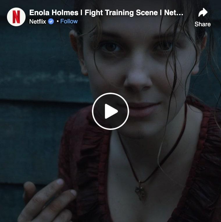 enola holmes fight training scene
