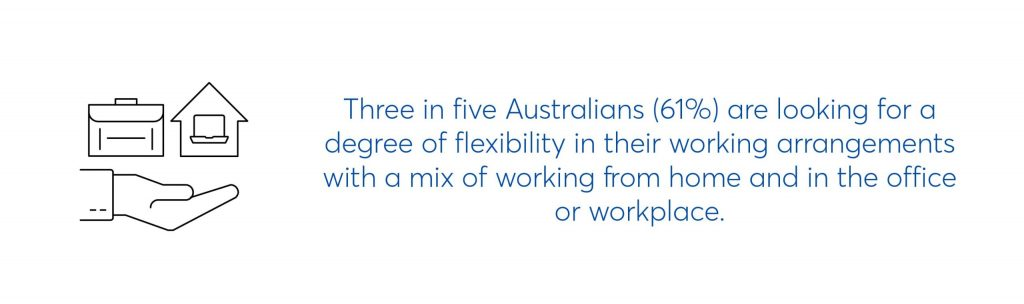 three in five australians are looking for a degree of flexibility in their working arrangements