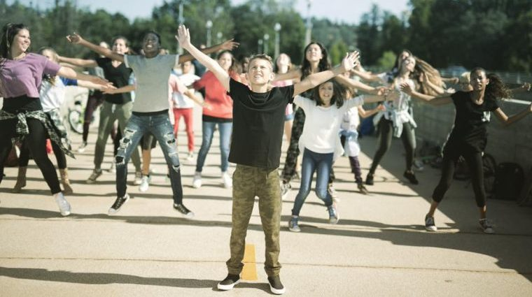 film still of kids dancing in bright ones
