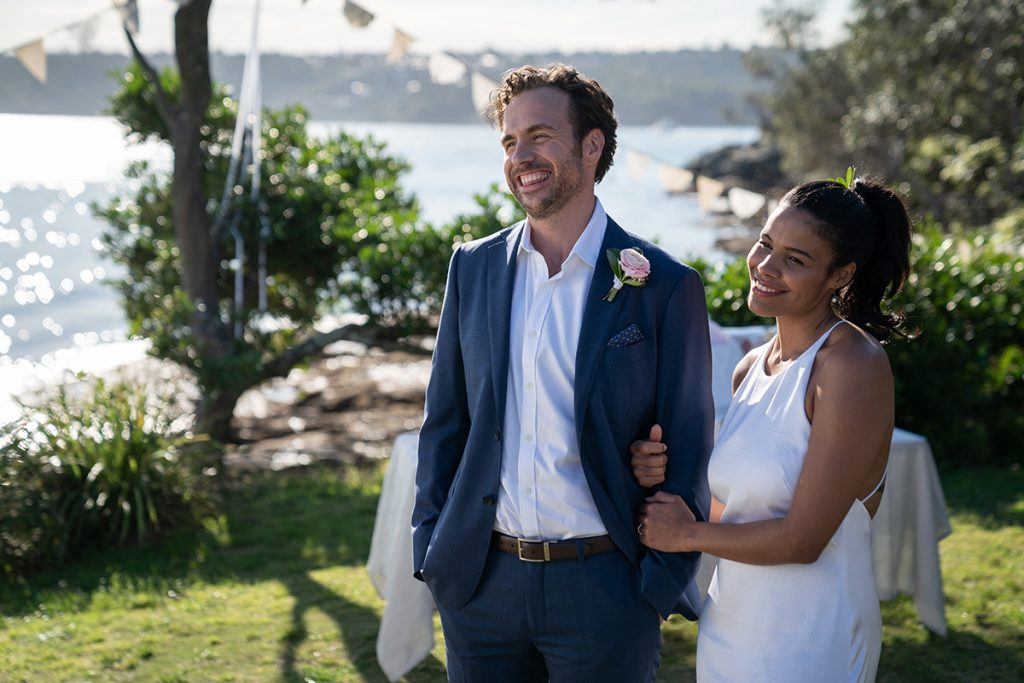 Rafe spall and zahra newman in long story short