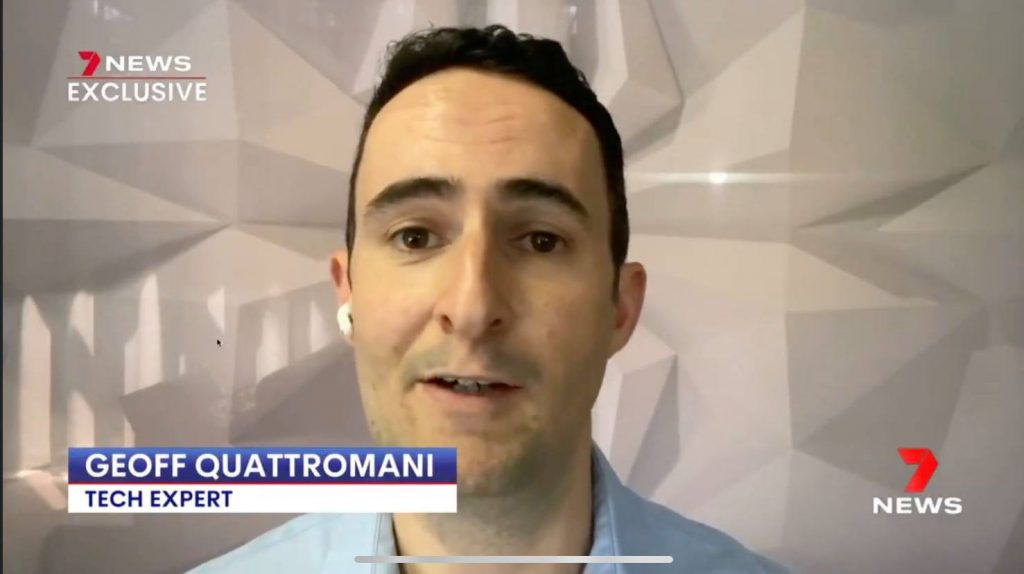 geoff quattromani in a 7 news interview