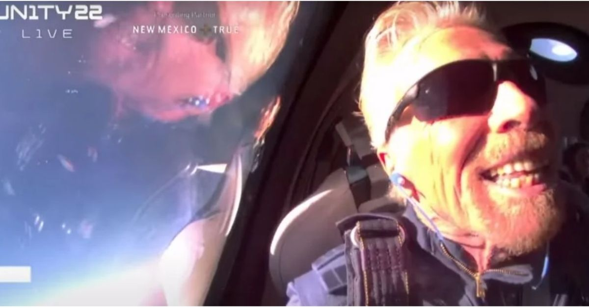 To Space and Back: Sir Richard Branson Aboard Virgin Galactic Unity 22