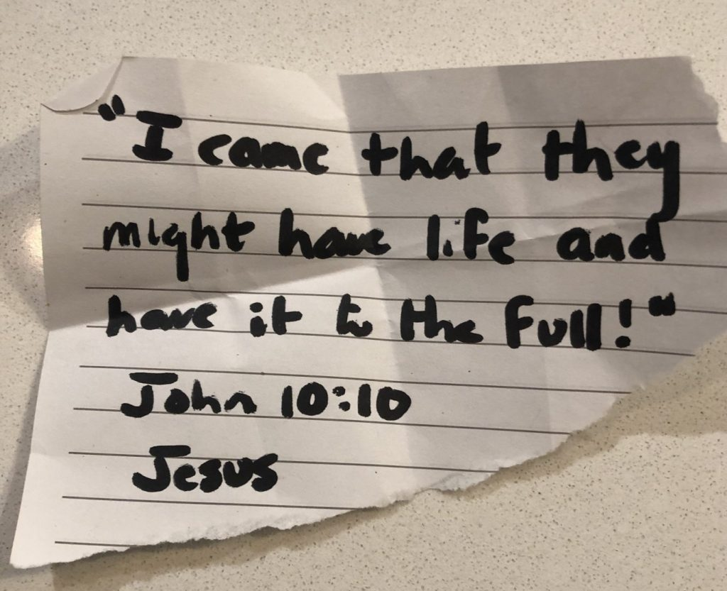 i came that they might have life and have it to the full! john 10:10. jesus